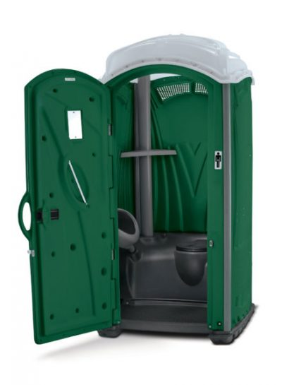 Aspen Toilettenkabine vermieten Aachen mit Urinal grün