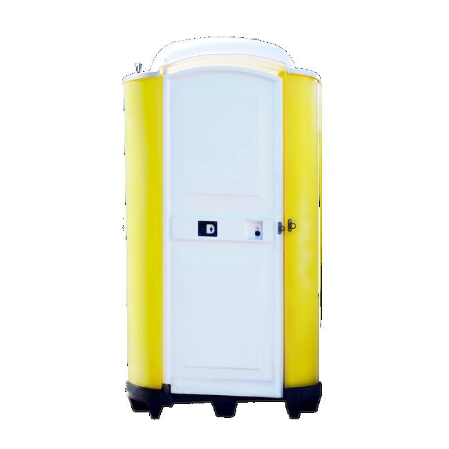 Mobile Toilette Aachen - Cleancab Toilettenkabine gelb weiss