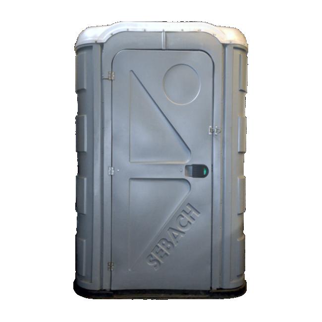 Mobile Toilette Aachen - Sebach Toilettenkabine Barrierefrei - Rollstuhl und Behindertengerecht grau weiss
