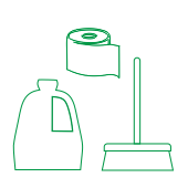 Toilette mieten Aachen - Symbol WC Service Reinigung und Service