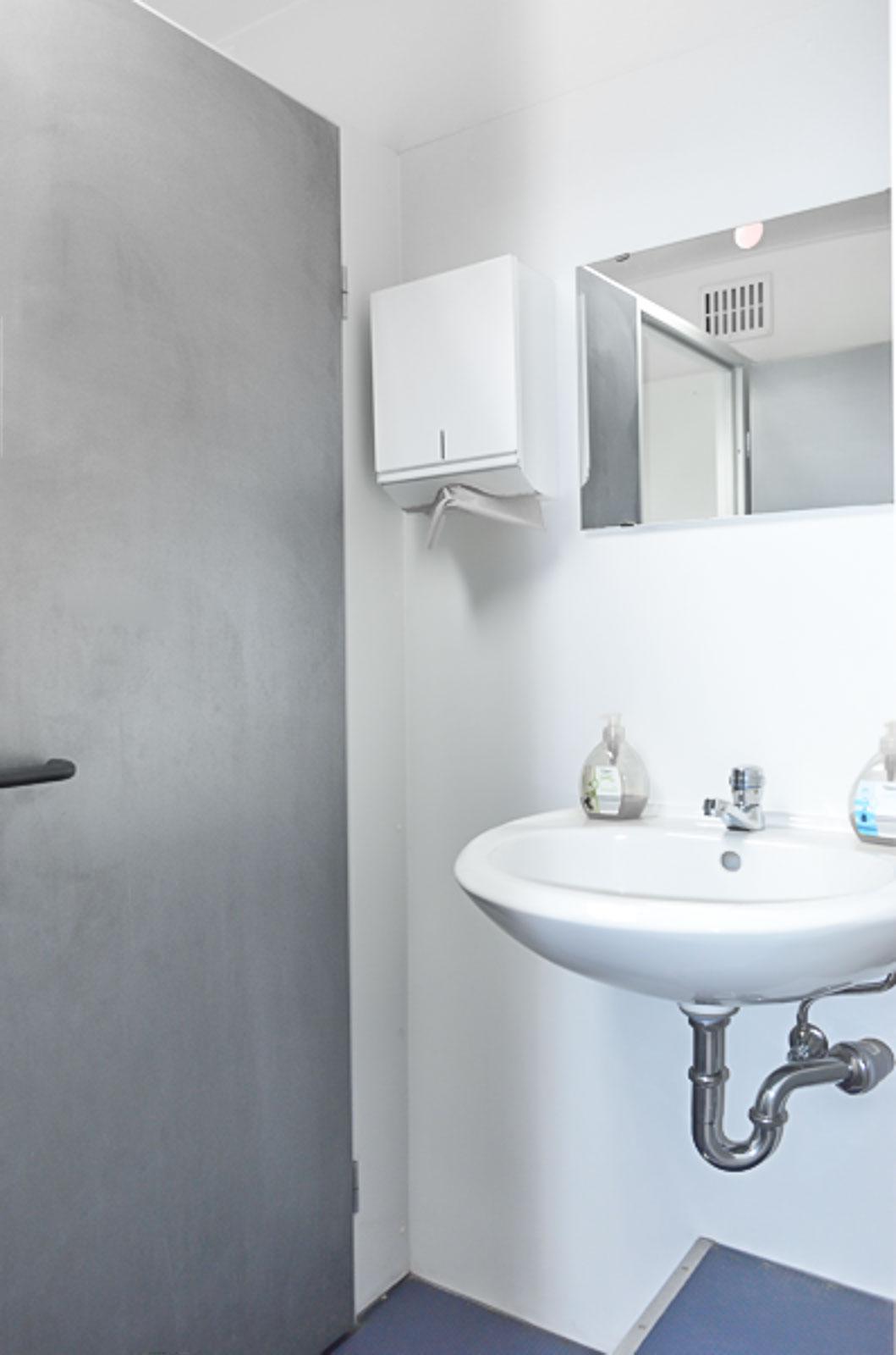 Toiletten Vermietung Aachen - Toilettenwagen mit Waschbecken