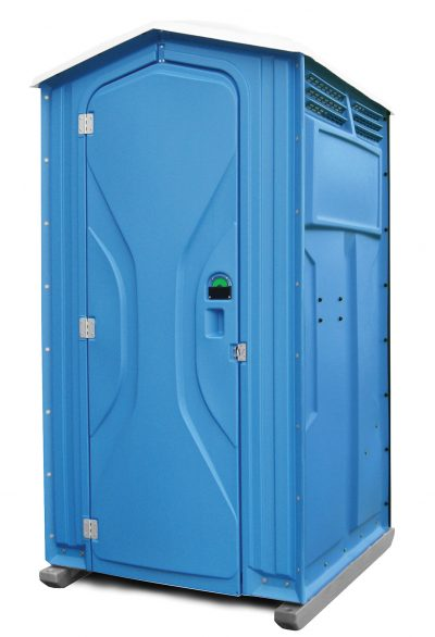 Tufway Toilettenkabine mieten - blau aussen